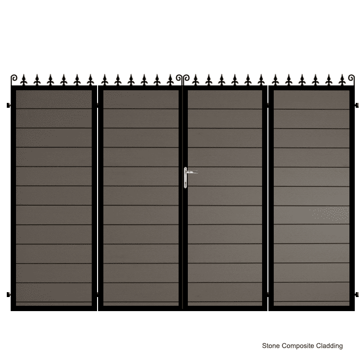 Composite Bi-fold Driveway Gate - The Dartford