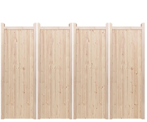 Bi-Fold Entrance Gates - Wooden